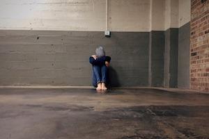 lonely bullied boy